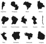 13 south america countries poster