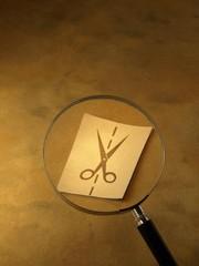 lupa, mostrando simbolicamente, una situación de recorte