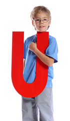 "Letter ""U"" boy"