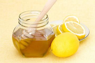 jar of honey, lemon and dooden drizzler