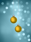 Christmas Baubles On Blurry Lights poster
