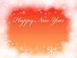 Happy New Year in orange