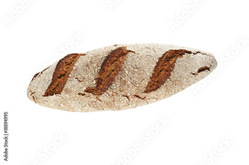 rye bread loaf isolated