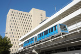 The fully automated Miami downtown train system poster