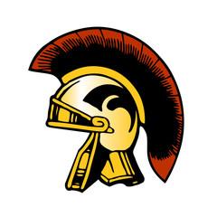 trojan spartan roman helmet vector