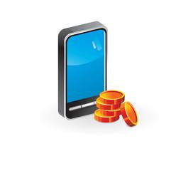 Icon mobile Phone (money)