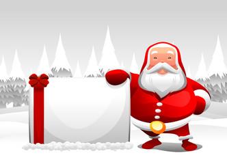santa claus and board