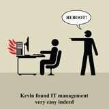 Kevin fand das IT-Management sehr einfach in der Tat