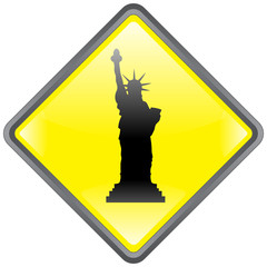 """Statue of Liberty"" Sign (Tourism - New York - USA - Vector)"