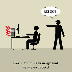 Kevin found IT management very easy indeed