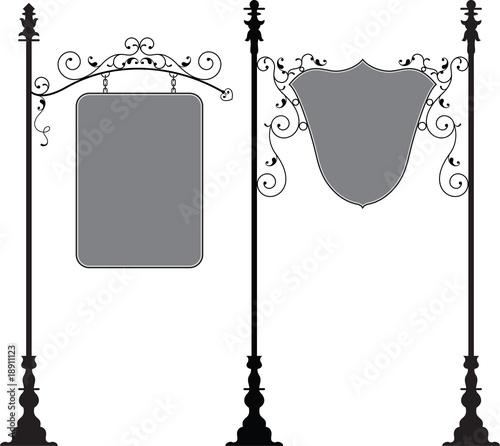 wrought iron signage