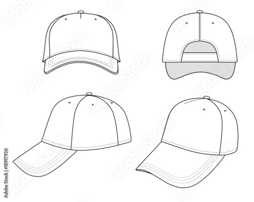 Outline cap vector illustration isolated on white - 18917936