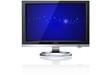 LCD Monitor - Deep blue, gray gradient BG, shadow