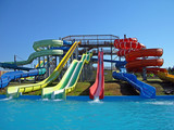 Aquapark slides, Sevastopol, Crimea