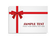 Red Bow on the White Gift Card