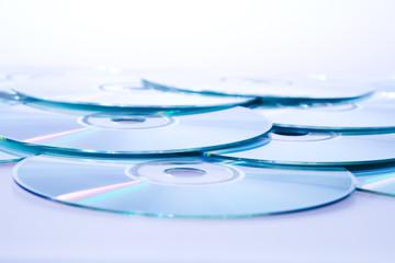 heap of dvd, cd disks
