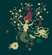 Mermaid into the ocean