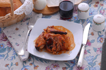 Coniglio in umido - Secondi di carne - Emilia Romagna
