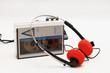 Leinwanddruck Bild - stereo cassette player