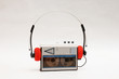 Leinwandbild Motiv stereo cassette player