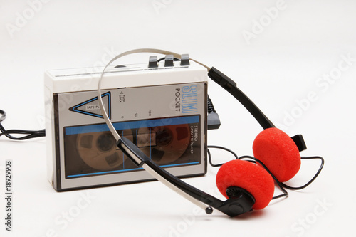 canvas print picture stereo cassette player