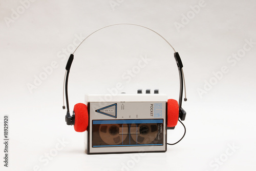 stereo cassette player - 18929920