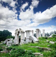 The ruins of Yuanmingyuan palace