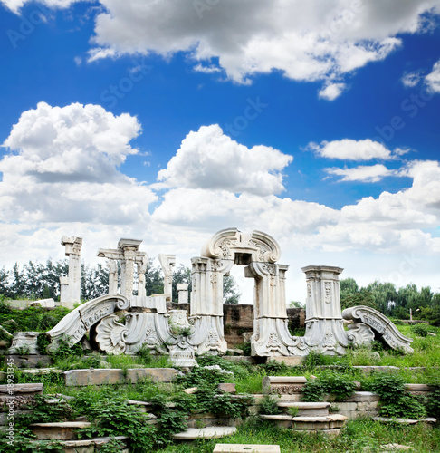 The ruins of Yuanmingyuan palace
