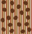 Background pattern with coffee beans