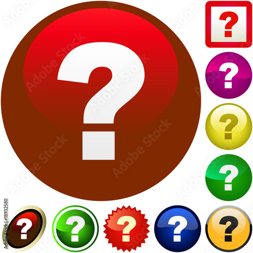 Question vector buttons for web.