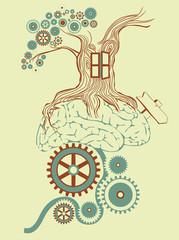 Tree made of gears