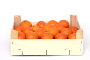 Kiste mit Apfelsinen