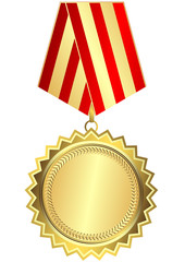 Gold medal (vector)