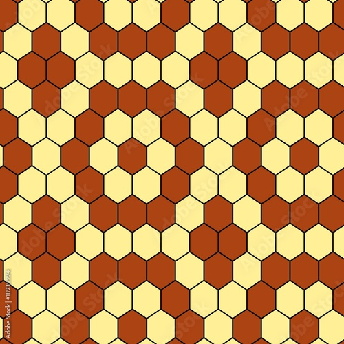 Seamless hexagon vector tile pattern