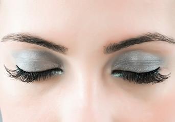 Close up of face with beautiful makeup