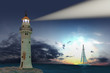 Lighthouse. Hi-res digitally generated image.