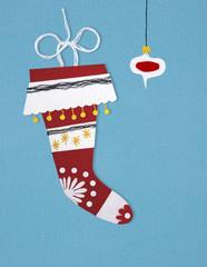 felt stocking for winter holidays