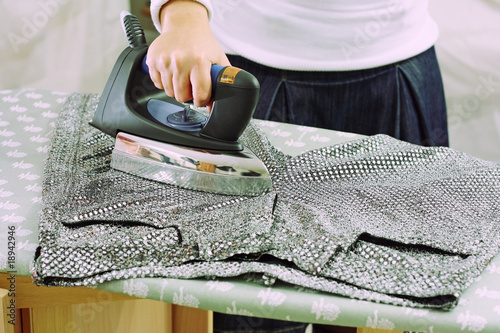 ironing on paillettes