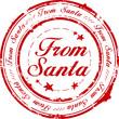 From Santa stamp