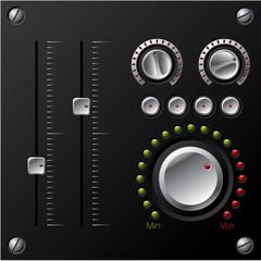 Hi-fi knobs with LED