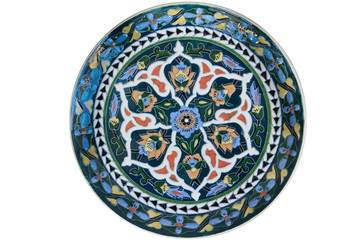 Turkish traditional artistic tile plate