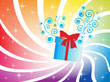 Holiday background with gift box