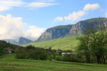 spring country mountains landscape (Crimea, Ukraine)