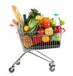 canvas print picture - Full shopping trolley