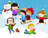 Kids join snow poster