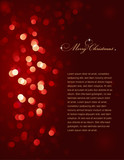 red defocused christmas lights (vector background) poster