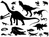 Collection of reptiles poster
