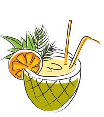 soda drink with straw