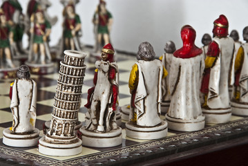 Chess Christmas Decorations, Tuscany, Italy