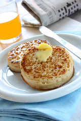 Toasted Butter Crumpets